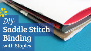 how to print and bind your own paperback book bookmaking diy staple saddle stitch bookbinding tutorial sea lemon youtube