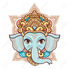 hindu elephant head god lord ganesh hinduism happy ganesh
