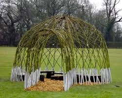 willow gazebo living outdoor willow structures you can grow in your backyard