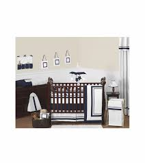 sweet jojo designs hotel white u0026 navy 9 piece crib bedding set