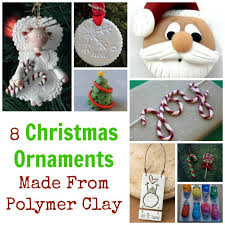 8 ornaments made from polymer clay polymer clay