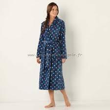 robe de chambre en courtelle femme courtelle peignoir femme col claudine pêche