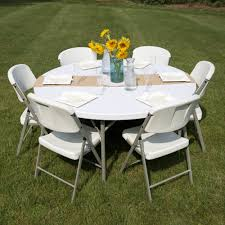 White Round Table And Chairs by Round Folding Table 60