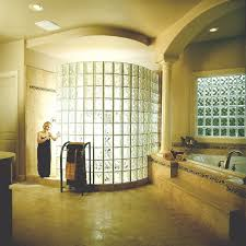 Glass Block Bathroom Ideas Bathroom Fascinating Bathroom Design With Glass Wall Walk In