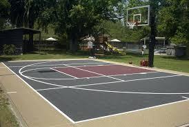 home basketball court dimensions bright backyard basketball court