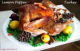 roast turkey recipe taste of home lemon pepper thanksgiving turkey recipe valya s taste of home