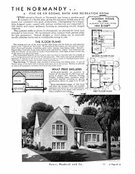 Kit Home Floor Plans by Sears Homes 1933 1940