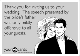 wedding quotes ecards thank you for inviting us to your wedding the speech presented by