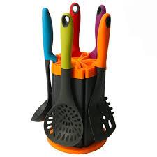 Wolfgang Puck Kitchen Knives Nylon Cooking Utensils Mcirco 5 Piece Colorful Kitchen Nylon