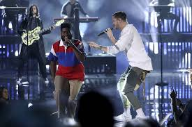 Selena Gomez The Scene Hit The Lights Imagine Dragons Joins Music Stars In Show Of Unity At Amas U2013 Las