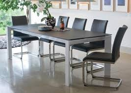 Large Extending Dining Table Mobo Large Extending Dining Table With 8 Mobo Dining Chairs Grey