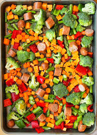 one pan sausage and vegetables meal prep smile sandwich
