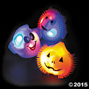 rubber flashing light up halloween rings by the unit