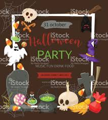 halloween banner template place for your text vector illustration