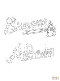 atlanta braves logo coloring page free printable coloring pages