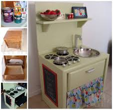 kids kitchen furniture diy play kitchen from an old nightstand home kids kitchen diy with