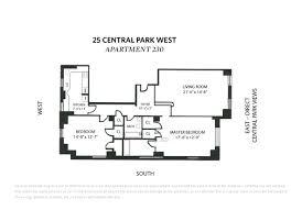 Central Park Floor Plan by 25 Central Park West Upper West Side Stribling U0026 Associates