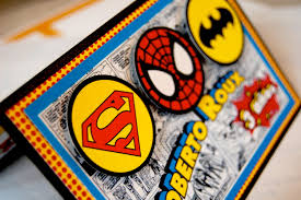 fabulous batman superman spiderman birthday invitations with