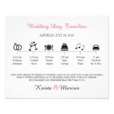 wedding day program wedding programs zazzle