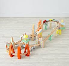 Making Wooden Toy Train Tracks by Metro Line Wooden Train Set The Land Of Nod