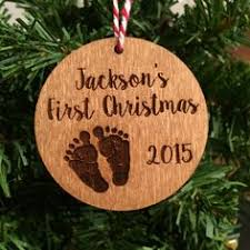 Personalized Christmas Ornaments Baby Handwritten Calligraphy Christmas Ornaments Personalized With A