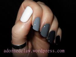 ombre nails tutorial only using black and white polish the