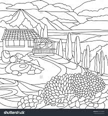 coloring pages for landscapes coloring pages landscapes for kids free printables mountains to