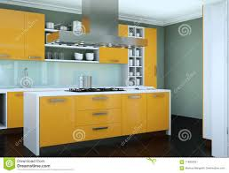modern kitchen design yellow yellow modern kitchen in a flat with beautiful design stock