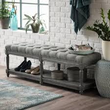 Sotrage Bench Indoor Storage Benches Hayneedle