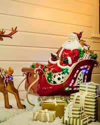 Outdoor Christmas Decorations Deer by 81 Best Outdoor Winter Decorating Ideas Images On Pinterest