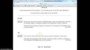 a level english literature the unit 1 exam aqa spec b youtube