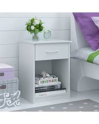 Nightstand Size Deals On Ameriwood Home Night Stand With Storage Drawer White