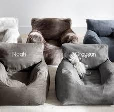 luxe faux fur bean bag chair wolf
