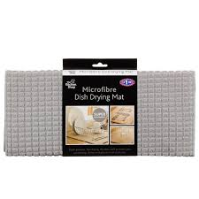 kitchen drying mat microfibre dish drying mat grey kitchen accessories dish mat