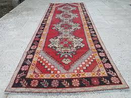 Flat Weave Runner Rugs Muted Wool Turkish Carpet Vintage Flatweave Knotted Rug Rug