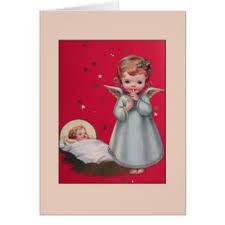 vintage baby angel greeting cards zazzle