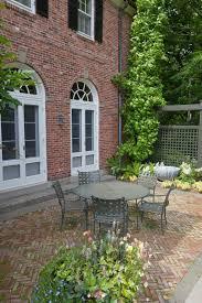 Herringbone Brick Patio Blooming Herringbone Brick Firebox Family Room Traditional With