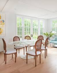 Oval Dining Room Tables And Chairs Oval Marble Dining Table With Back Chairs