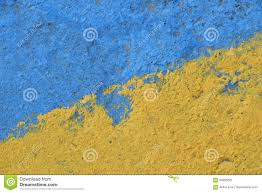 blue and yellow painted concrete wall texture stock photo image