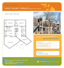 Floor Plan Services Real Estate by West Slope Terrace Floor Plans One Two And Three Bedroom Apartments
