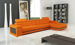 Orange Sofa Bed by Modern Bonded Leather Sectional Sofa Welcome To Decoreza Furniture