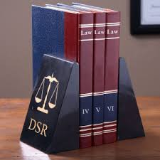 monogram bookends monogram marble bookends scales of justice design