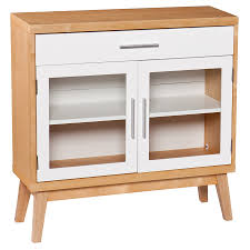 Storage Cabinets Glass Doors Cabinet Contemporary White And Wood Media Storage Cabinet With