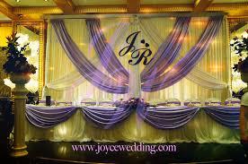 wedding backdrop set up backdrop on lavendar purple and white joyce wedding services