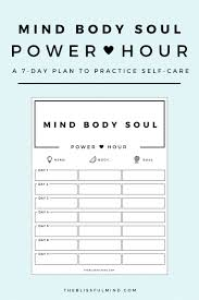 Life Planning Worksheet How To Start A Self Care Routine Using The Power Hour Method The