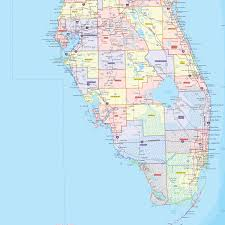 Florida Towns Map Florida County Wall Map Maps Com