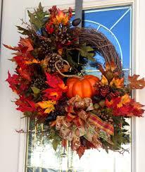 Wreath For Front Door Beautiful Autumn Pumpkin Wreath Fall Autumn Wreath Welcome Wreath