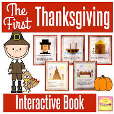 the thanksgiving activities and interactive book by firstieland