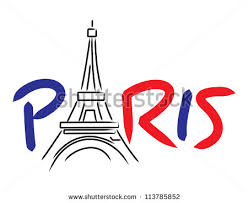 paris eiffel tower vector lettering drawing stock vector 113785852