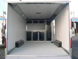 V Nose Enclosed Trailer Cabinets by Carmate 8 5 X 18 Enclosed Car Trailer Upper U0026 Lower Cabinets